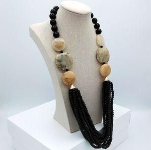 SHEIN Beaded Multi Layered Boho Necklace
